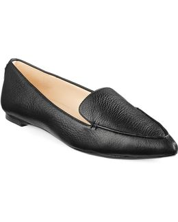 Destine Pointed Leather Slip-on Shoes