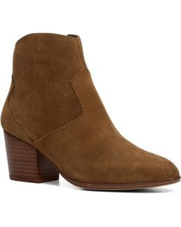 Marecchia Western Block Heel Ankle Boots