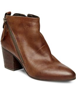Jaydun Leather Ankle Booties