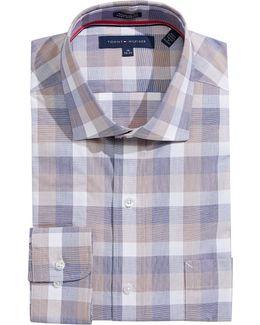 Checkered Regular-fit Dress Shirt