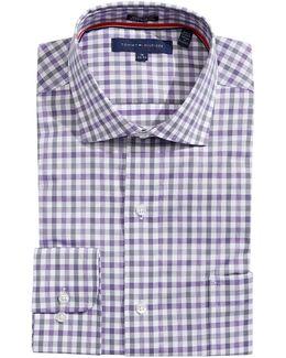 Gingham Regular-fit Dress Shirt