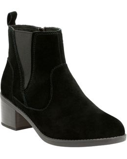 Nevella Bell Suede Ankle Boots