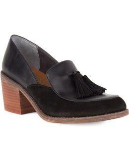 Descent Heeled Leather Oxfords