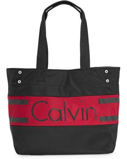 Graphic Nylon Tote Bag