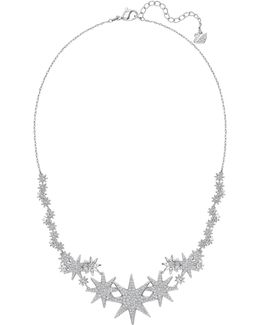 Fizzy Crystal Rhodium-plated Necklace