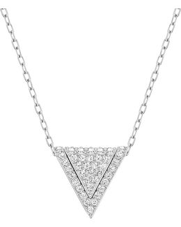 Delta Crystal Rhodium-plated Three-in-one Pendant Necklace