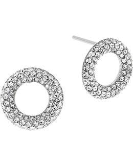 Brilliance Circle Stud Earrings