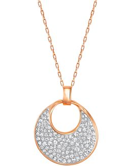 Freedom Crystal Rose Goldplated Pendant Necklace