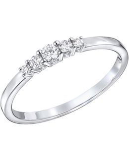 Frisson Crystal Rhodium-plated Ring
