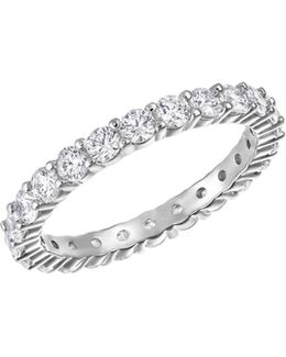 Vittore Crystal Rhodium-plated Ring