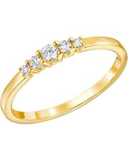 Frisson Crystal Goldplated Ring