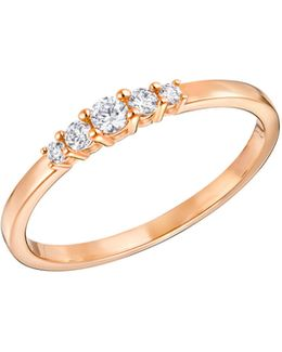 Frisson Crystal Rose Goldplated Ring