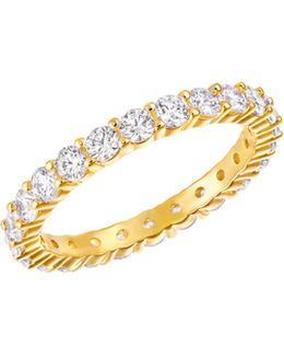 Vittore Crystal Goldplated Ring