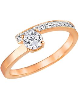 Fresh Crystal Rose Gold-plated Ring