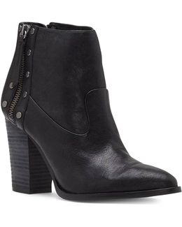 Beldon Leather Studded Booties