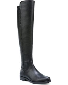 Charlotte Scalloped Over-the-knee Boots