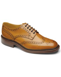 Chester Double Sole Wingtip Calfskin Oxfords