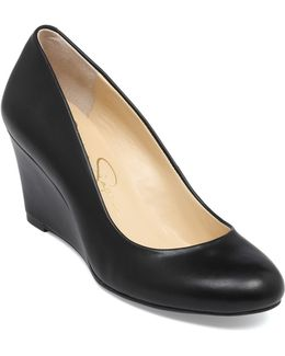 Sampson Patent Leather Wedge Pumps