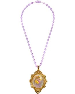 Princess Rapunzel Snow Globe Necklace