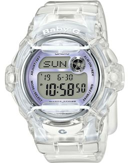 Digital Retro Jelly Resin Strap Watch