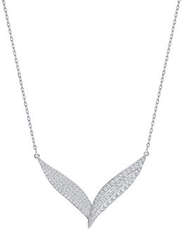 Fortunately Crystal Rhodium-plated Necklace