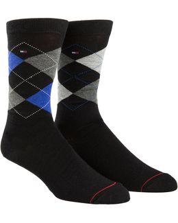 Two-pair Argyle Crew Socks