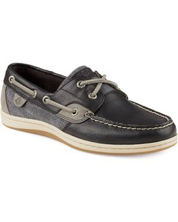 Koifish Waxy Leather Boat Shoes