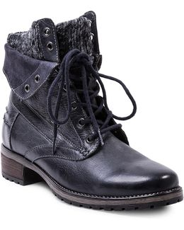 Ada Leather Combat Boots