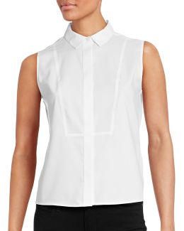 Sleeveless Defined Bib Blouse