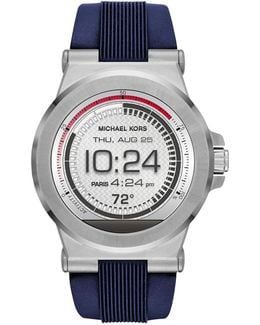 Dylan Silicone Silver-tone Smartwatch