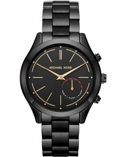 Mk Access Slim Runway Black Hybrid Smartwatch