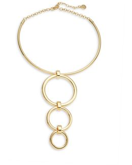 Circle Accented Collar Necklace