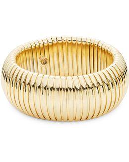 Goldtone Dome Bangle Bracelet