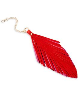 Boxed Feather Key Fob