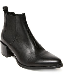 Vanity Leather Booties