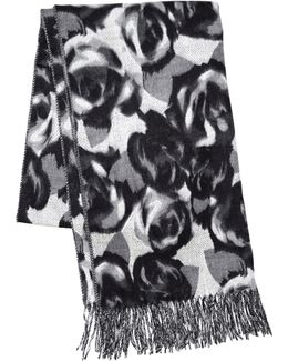 Shadow Roses Oversized Scarf