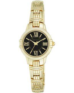 Analog Ak-2280bkgb Goldtone Stainless Steel Watch