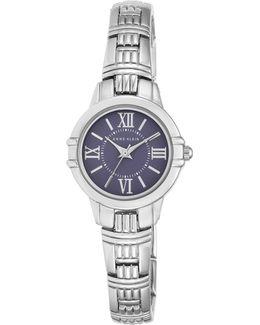 Analog Ak-2281blsv Stainless Steel Watch