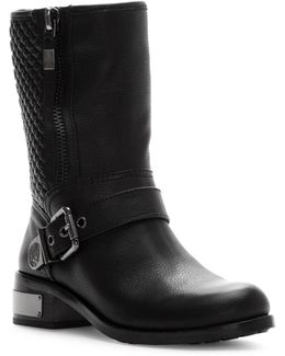 Whynn Leather Moto Boots