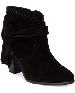 Fianna Fringed Suede Ankle Boots
