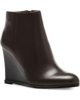 Gemina Leather Wedge Ankle Boots