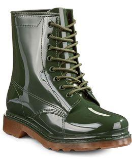 Mist Rubber Lace-up Boots