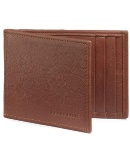 Boxed Rifd-blocking Leather Portfolio Wallet