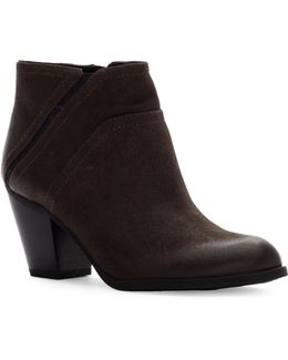 Domino Leather Booties