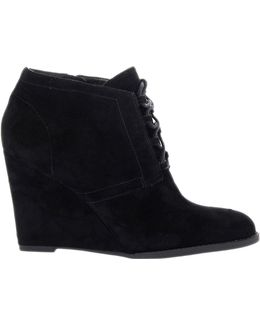 Lennon Suede Wedge Ankle Boots