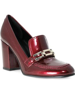 Barley Faux Patent Leather Loafers