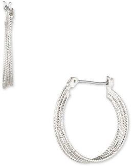 Multi-row Textured Hoop Earrings