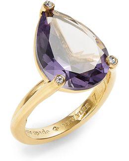 Hidden Gems Pear Shape Ring