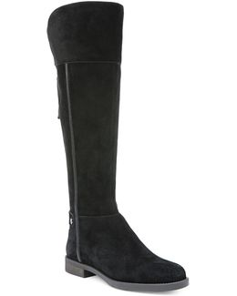 Christine Wide Calf Leather Riding Boots