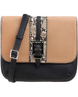 Faux Snakeskin Panel Crossbody Bag